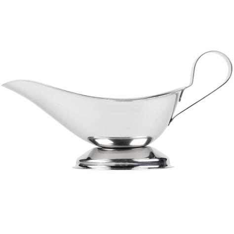 parts of a gravy boat 5 oz stainless steel gravy boat