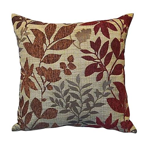 throw pillows for burgundy sofa bristol square throw pillow in burgundy bed bath beyond