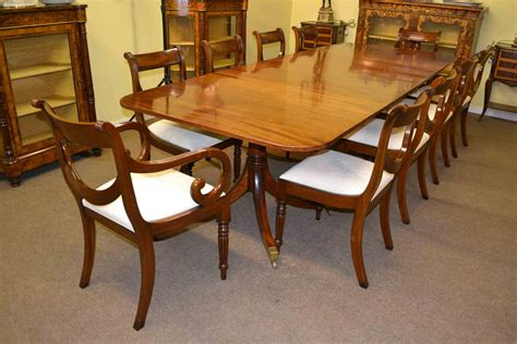 antique regency mahogany dining table 10 chairs