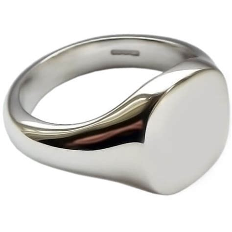 womens solid sterling silver cushion signet ring 0013