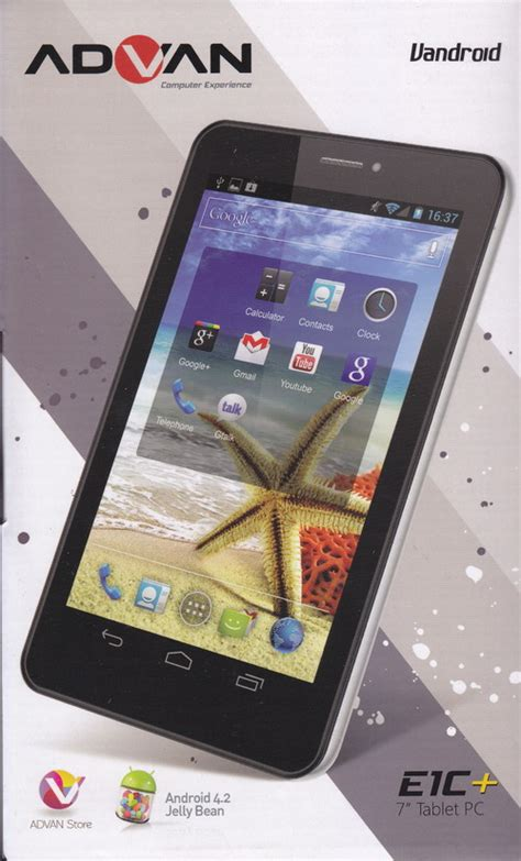 Tablet Advan E1c New miliki tablet android advan baru ini dimensidata