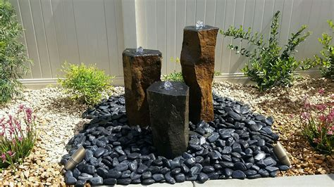 black garden rocks backyard glass landscaping rocks