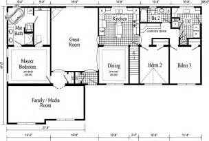 ranch style homes floor plans quincy ii ranch style modular home pennwest homes model