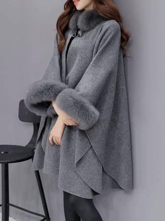 Patchwork Cloak - faux fur patchwork cloak coat at banggood