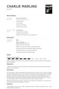 Resume Objective Accounting Internship Accounting Intern Resume The Best Resume