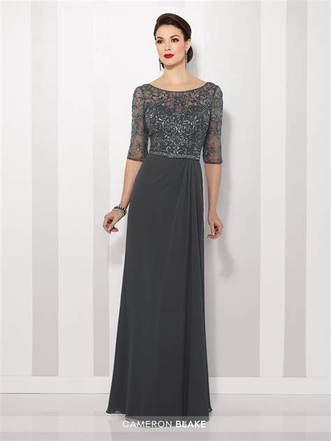 Cameron Blake 216684 Mother of the Bride Chiffon A line Gown