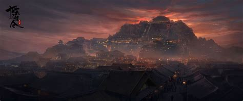 qishan wen nightless city untamed anime scenery scenery