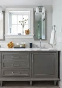 Bathroom Cabinets Grey Bathroom Cabinets Painted In Boothbay Gray From Benjamin