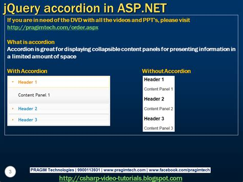 jquery tutorial video sql server net and c video tutorial jquery accordion