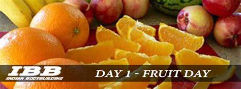 fruit day 2 gm diet plan