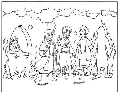 Free Coloring Pages Of Shadrach Meshach Shadrach Meshach And Abednego Coloring Page