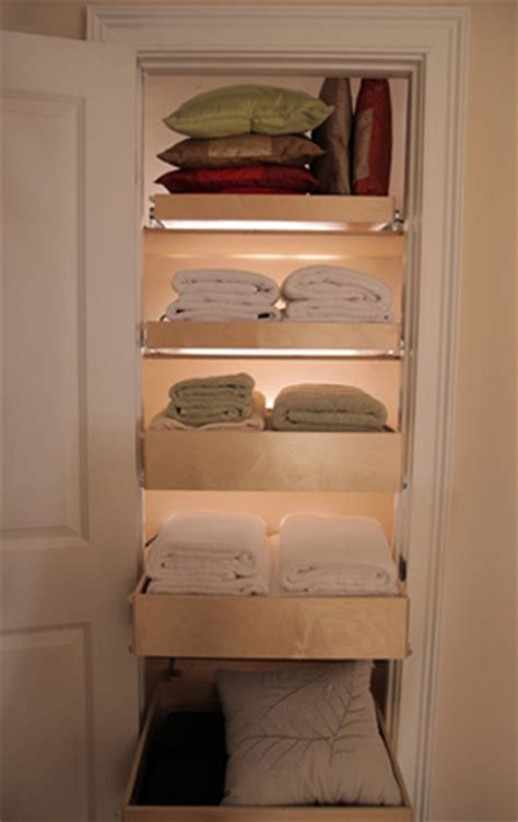 Pull Out Closet Storage by Pull Out Linen Closet Shelves Closet Organizers Other Metro By Shelfgenie Of Baltimore