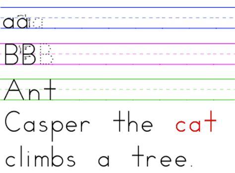 Zaner Bloser Font Set Manuscript Style