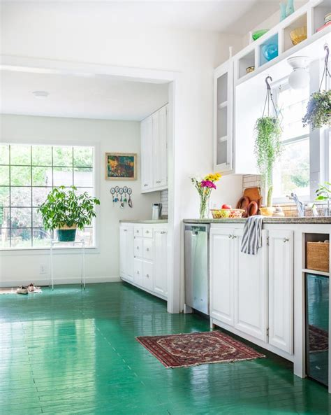 Kitchen Floor Paint Ideas 15 Painted Floors That Will Make You Want To Grab A Paintbrush Decor Advisor