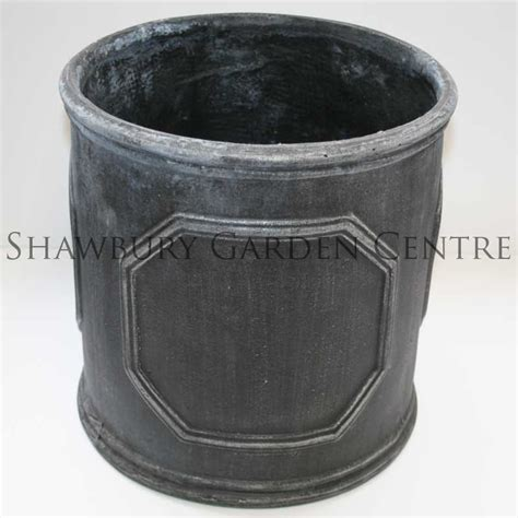 Lead Effect Planters by Naylor Patio Pots Chelsea Cylinder Planter Aged Lead Effect