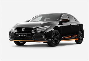 Honda Civic Honda Australia Adds Orange Edition Black Pack To Civic