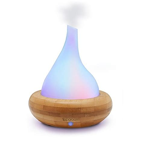 bed bath and beyond aromatherapy sparoom 174 aromascape glass and bamboo ultrasonic diffuser