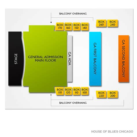 blue seating chart chicago house of blues chicago tickets house of blues chicago