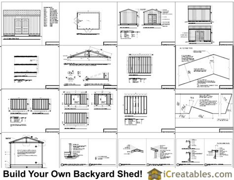 12x16 Gable Shed Plans by December 2014 Shed Plans For Free