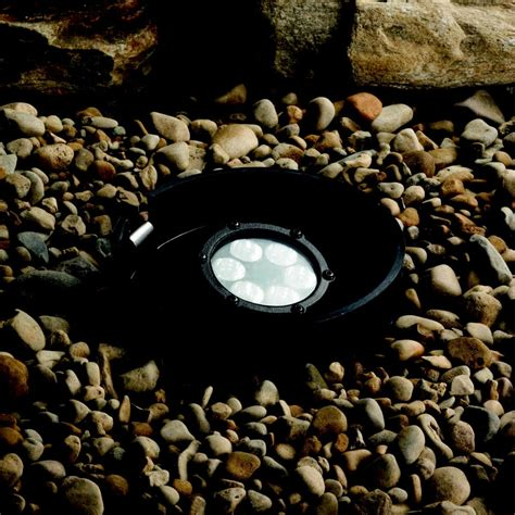 led landscape lighting 8 5watt 60 degree beam spread led well light kichler 15748