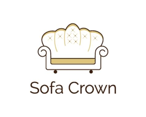 sofa logo sofa crown furniture store designed by dalia brandcrowd