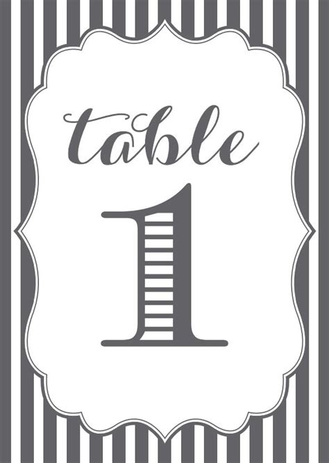 4x6 printable grey and pink scroll table numbers by 107 sets of free printable wedding table numbers
