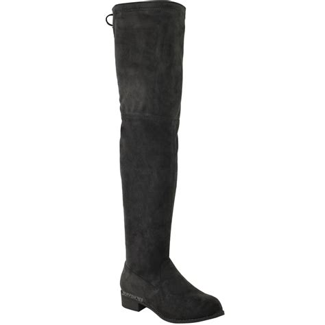 the knee stretch boots womens low heel thigh high the knee stretch