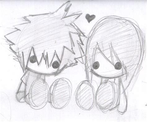 imagenes para dibujar a lapiz faciles de anime dibujos a lapiz de animes enamorados imagui