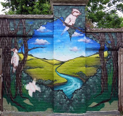 in the garden wall mural garden wall graffiti mural