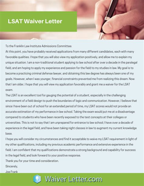 Of Houston Mba Gmat Waive by How To Write A Waiver Request Letter Sle Cover Letter