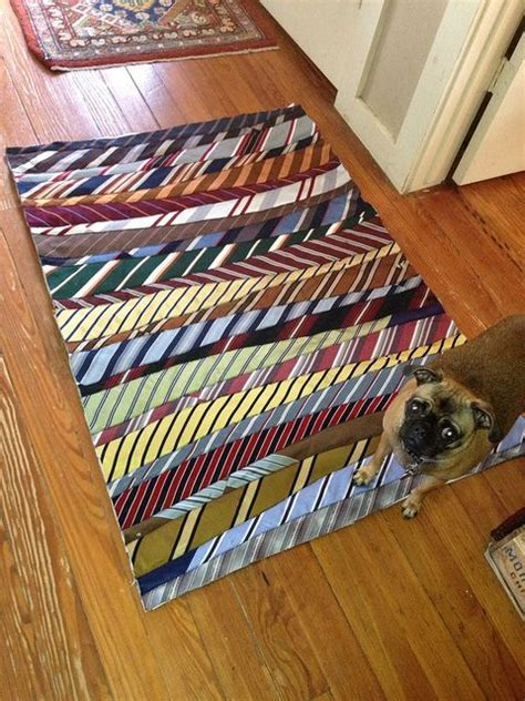 how to make a tie rug necktie rug recycle repurpose reuse