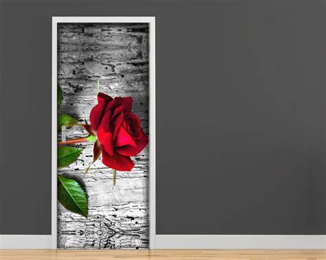 adesivi murali per porte una rosa rossa adesivo per porte interni