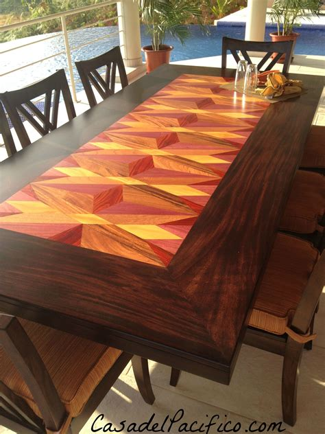 close    inlay wood table   costa