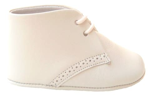 Ivory Crib Shoes by De Osu Spain Baby Boys Ivory Leather Dress Crib Shoes Pr