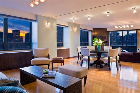 The Modern Dining Room Nyc by Manhattan Penthouse Modern Dining Room New York By