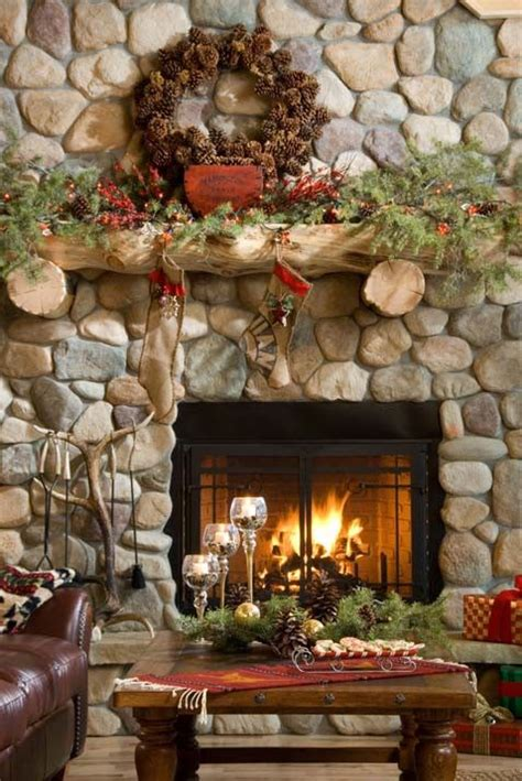 easy christmas home decor ideas rustic christmas fireplace living room decor ideas