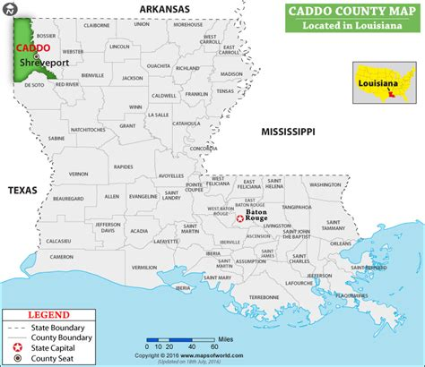 Caddo Parish Map, Louisiana