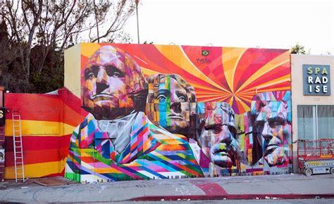 eduardo kobra  mural  los angeles streetartnews
