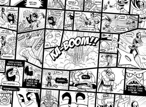 Black And White Comic Wallpaper | buy childrens comic wallpaper murals for 163 35 00 per sq m2