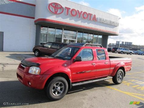 2003 Aztec Red Nissan Frontier Xe V6 Crew Cab 4x4