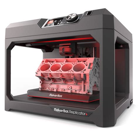 with this 3 d printer makerbot replicator 3d printer mp07825 b h photo