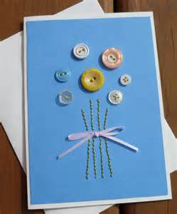 Easter cards to make bunch of button flowers handmade cards