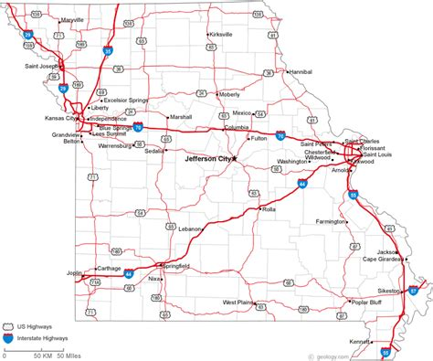 missouri road map index of images lsx road conditions
