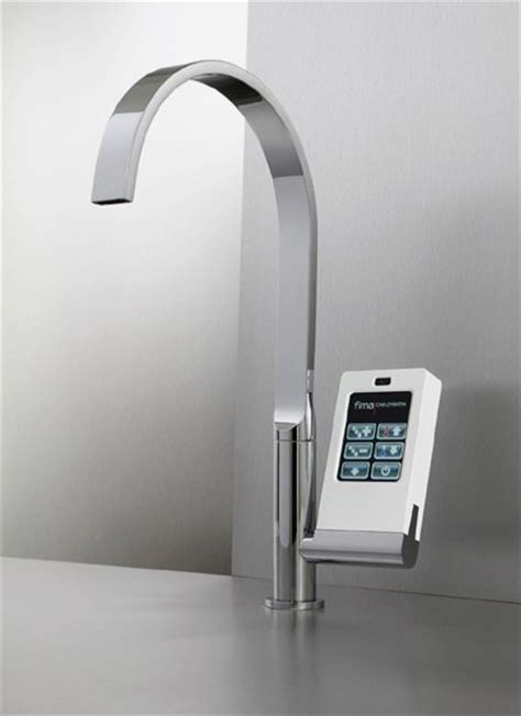 kitchen faucets with touch technology kitchen technology touch screen with icons faucet by fima