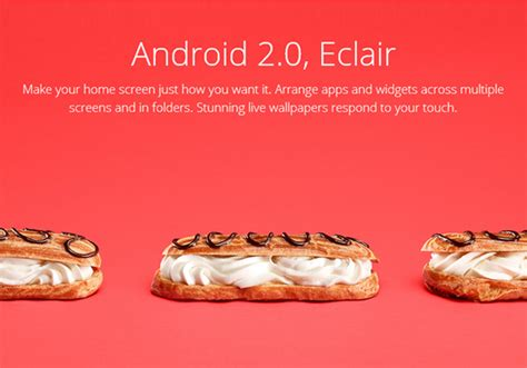 android eclair the delicious story android from cupcake to kitkat