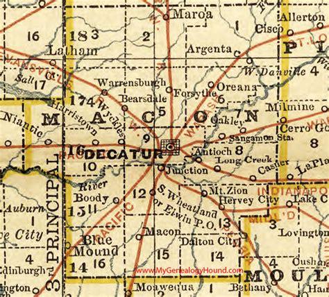 Macon County Il Search Macon County Illinois 1881 Map Decatur