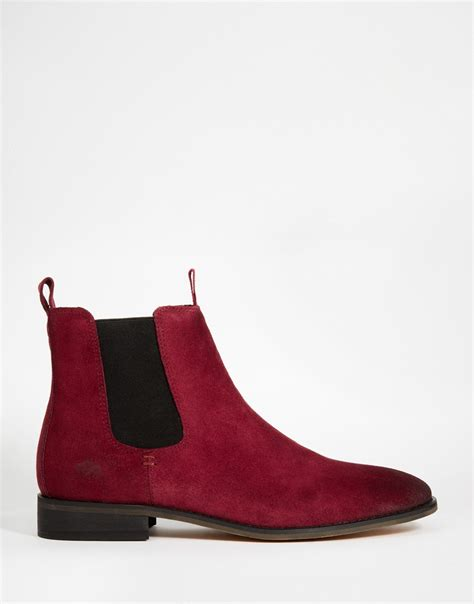 bellfield suede chelsea boots in for lyst
