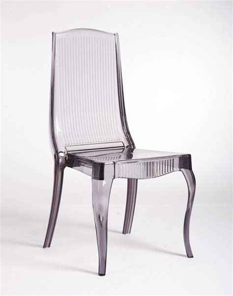 Smoke acrylic dining chair 6 stunning lucite dining chairs estateregional com