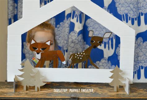 Handmade Puppet Theatre - tabletop puppet theater playful learning