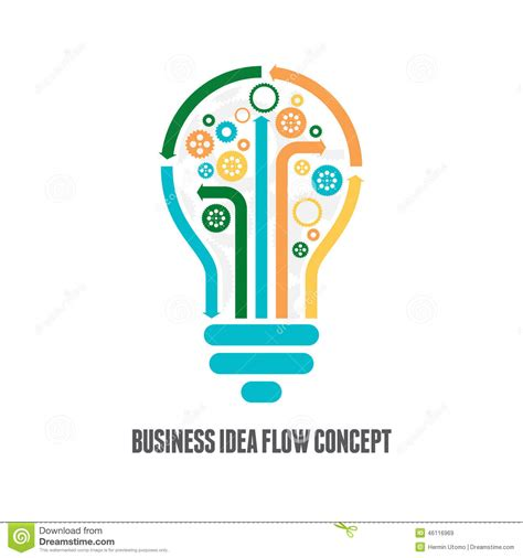 Flow Idea Business Idea Flow Concept Stock Vector Image 46116969